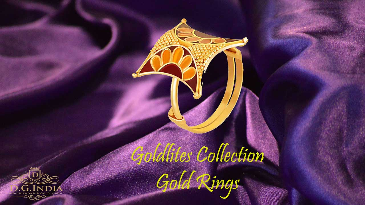 P. C. Chandra Jewellers Goldlites Collection 22k (916) Yellow Gold Ring