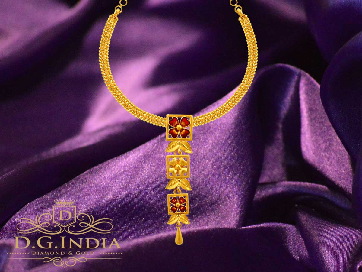 P.C. Chandra Jewellers 22KT Yellow Gold Necklace for Women