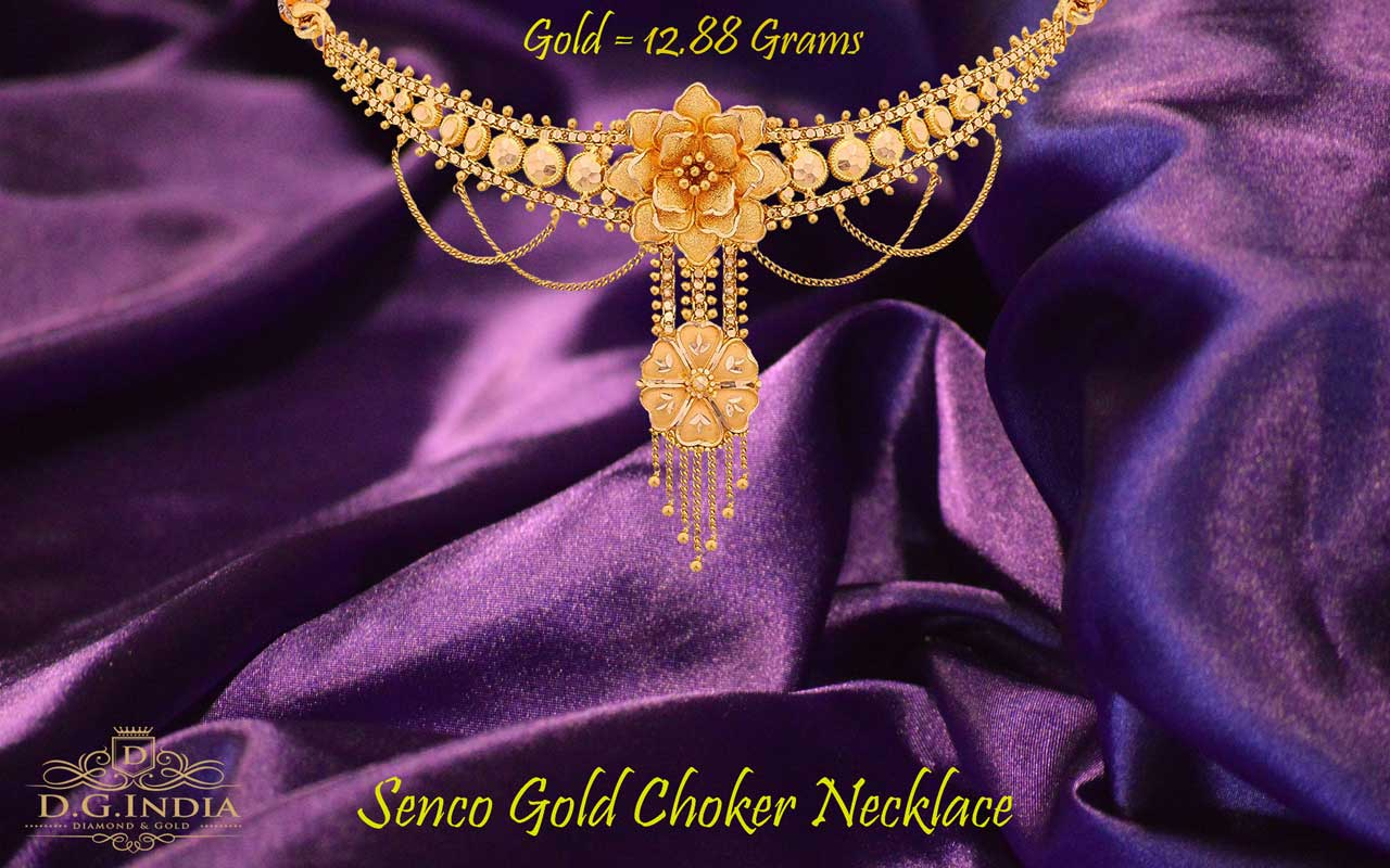 Yellow Gold Choker Necklace by Senco Gold