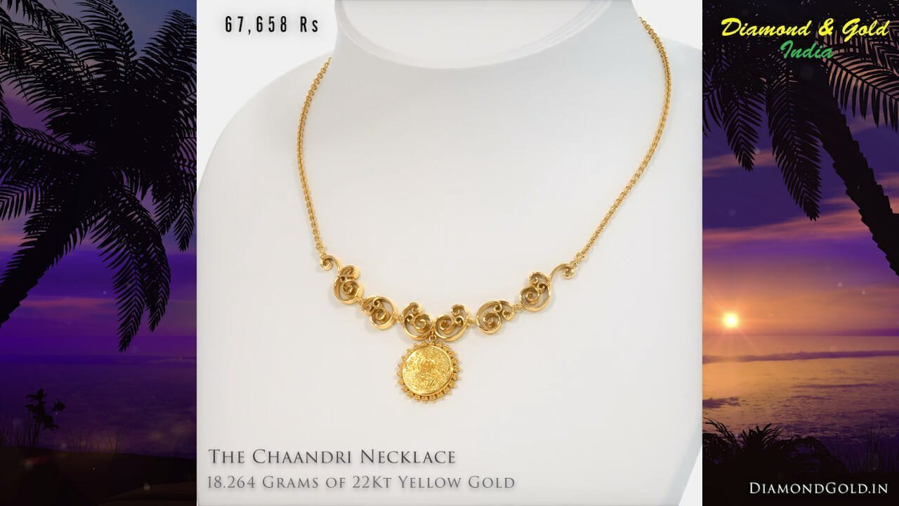 Necklace in 18 Grams Gold