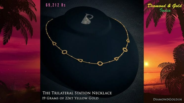 22k Simple Gold Necklace