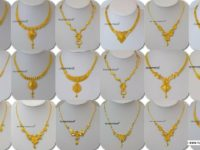 latest gold necklace for women u