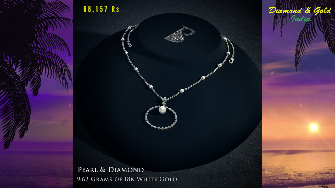 White Gold Pearl Necklace