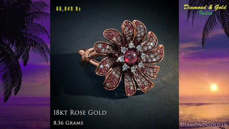 Rose Gold Ruby Ring Design