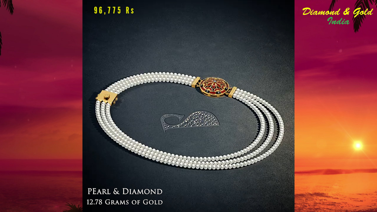 Pearl Bead Necklace Design