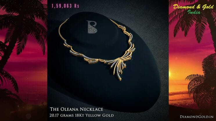 The Oleana Gold Diamond Necklace