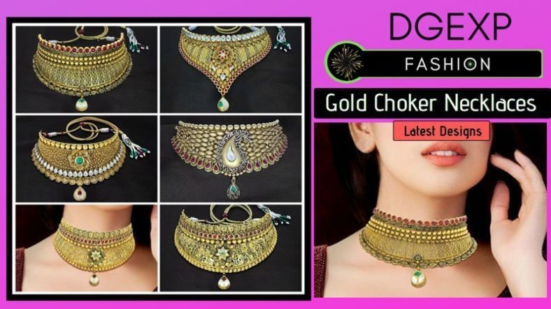 Kundan Gold Choker Necklace Designs With Price