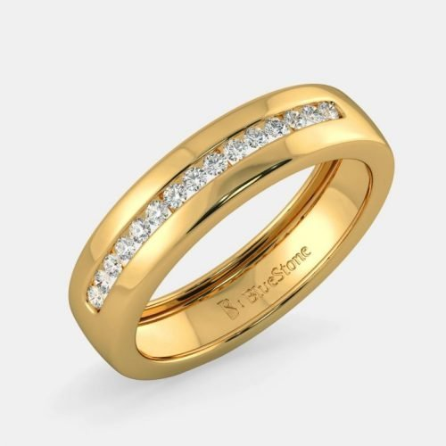 Gold Mens Ring Designs with Diamonds