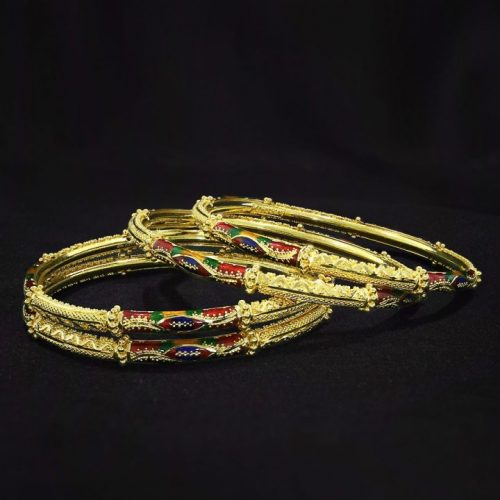 Traditional Churi Gold Bangles Design for Women