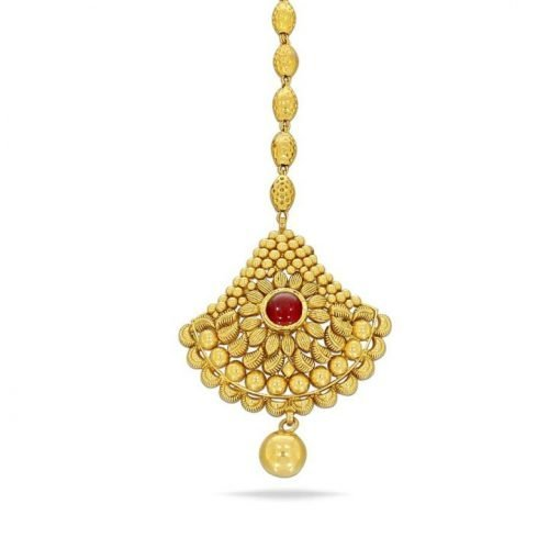 Bridal Maang Tikka Design in Gold with Price