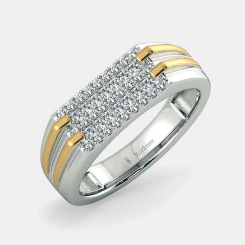 Mans White Gold Ring with 0.5 Carat Diamonds