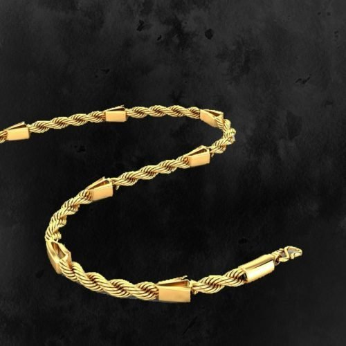 Mens Thick Gold Chain with Weight