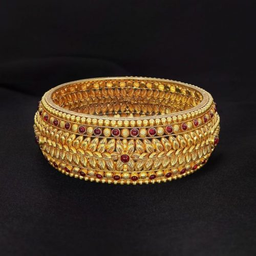 Broad Gold Bangles with Price