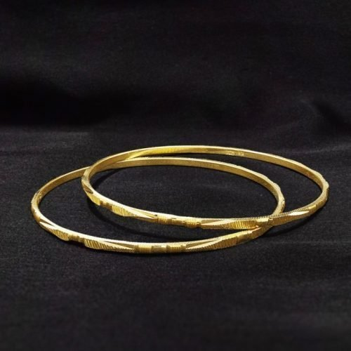 Slim Gold Bangles for Ladies