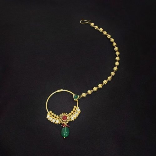 Traditional Gold Nose Rings Design