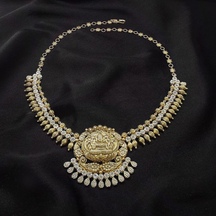 Uncut Diamond Gold Necklace with Weight