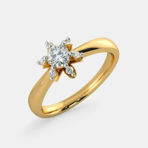 0.25 Ct Solitaire Diamond Ring in Gold