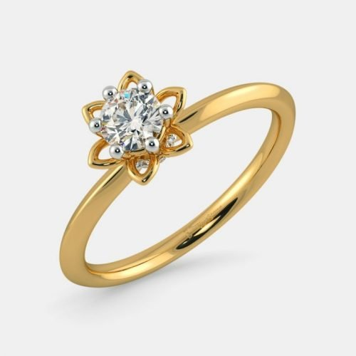 Preset Solitaire Diamond Ring in 18Kt Gold