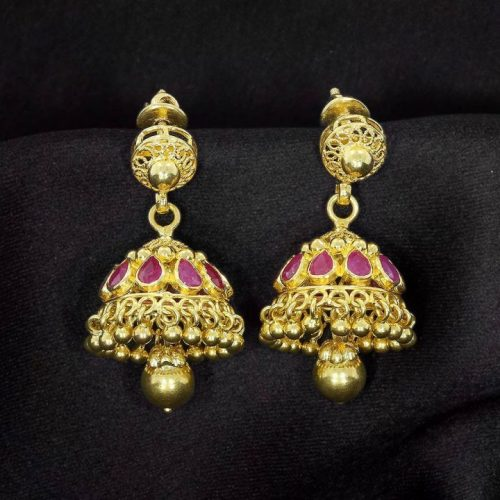 Traditional Jhumkas in 22k Gold
