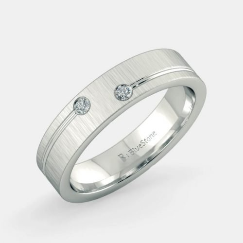 Mens Platinum Ring Design Ally Band