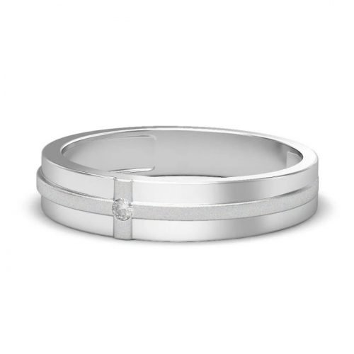 Mens Platinum Rings Oriel Love Band