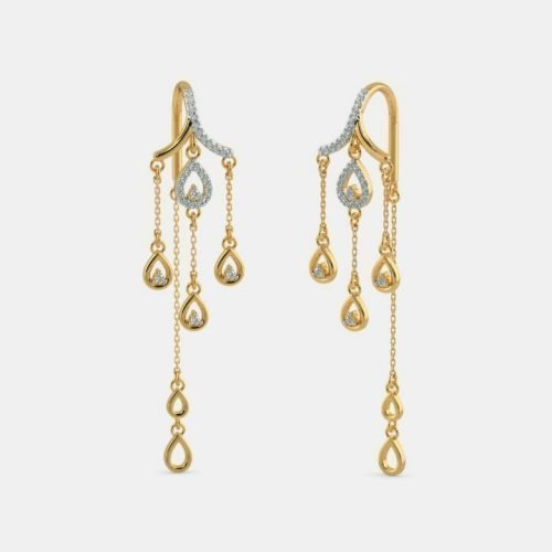 Diamond Womens Earrings with Price & weight