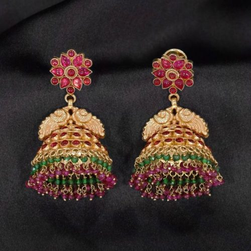 Jhumka Gold Earrings Design