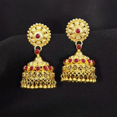 Jhumkas in Gold with Price & Weight