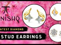 Tanishq Diamond Stud Earrings
