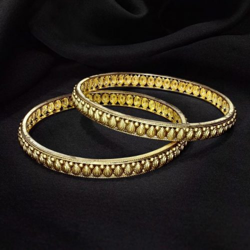 Yellow Gold Bangles Set for Women