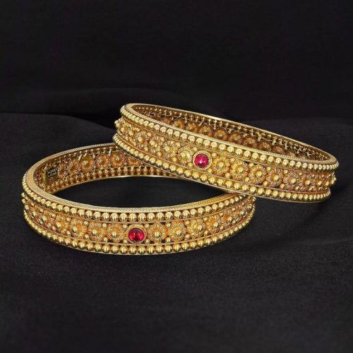 22K Gold Bangles with Weight