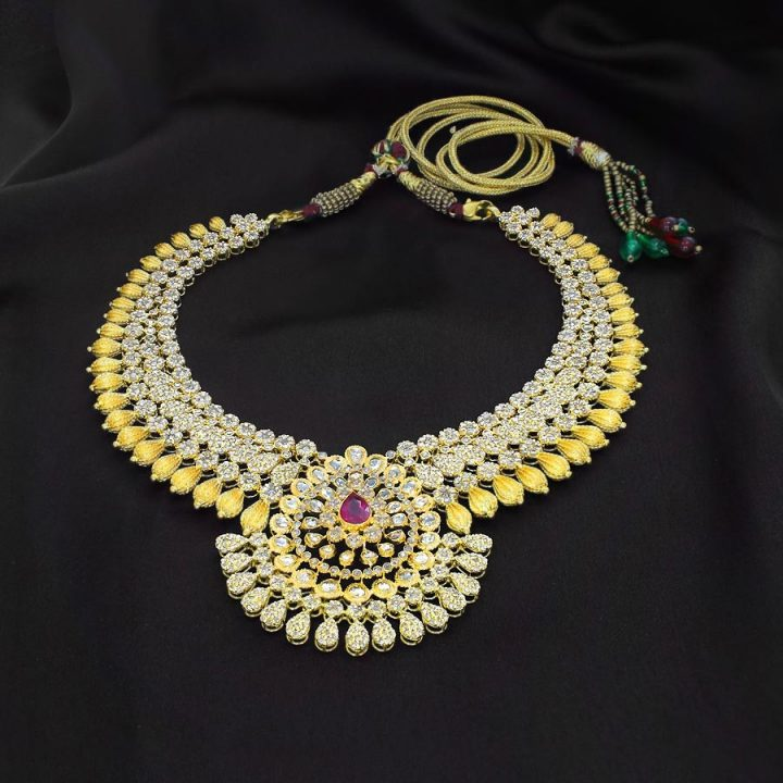 Beautiful Uncut Diamond Necklace with Weight