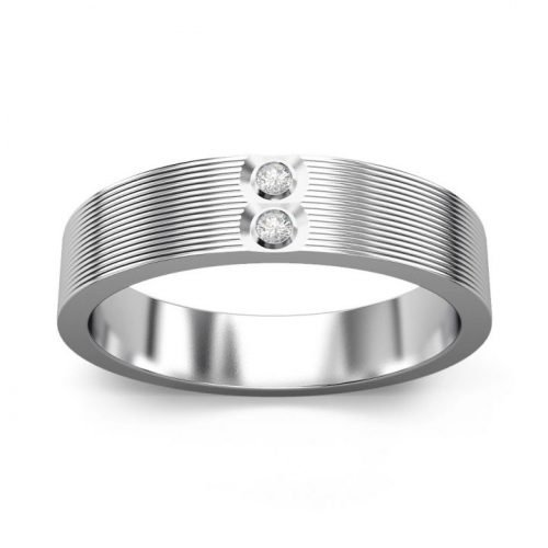 Platinum Ring for Men with Diamond