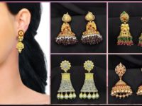 Gold Jhumka Earrings Designs with Price
