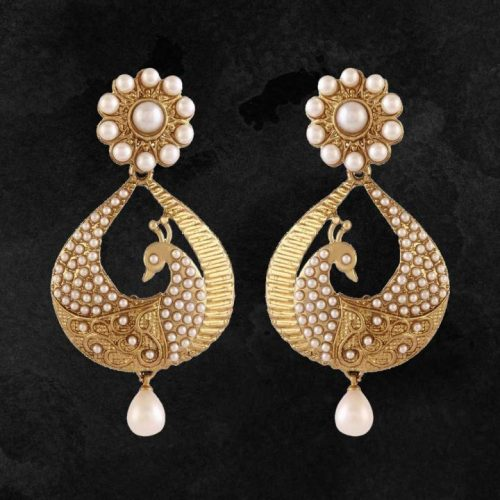 Traditional-1-Gram-Gold-Plated-Peacock-Earrings