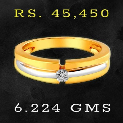 18KT Gold and Diamond Finger Ring for Men