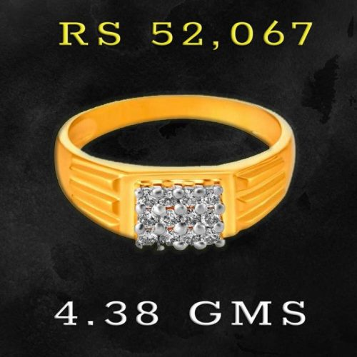 18kt Gold 0.25ct Diamond Ring for Gents