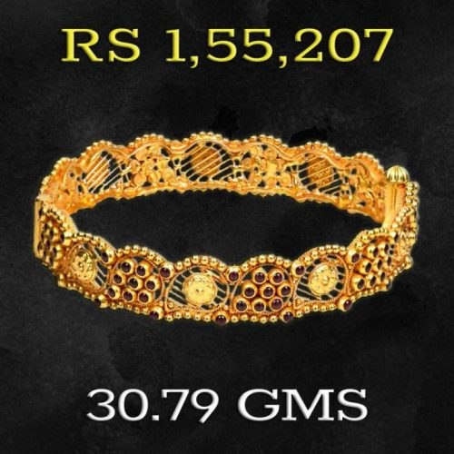 30 Gram Gold Bangle Design from Joyalukkas