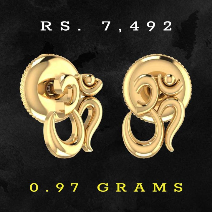 Beautiful Gold Earrings with Weight
