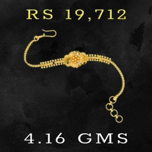Gold Bracelet design in 4 grams for girls