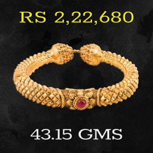 Joyalukkas Apoorva Collection 22K Gold Bangles with Weight