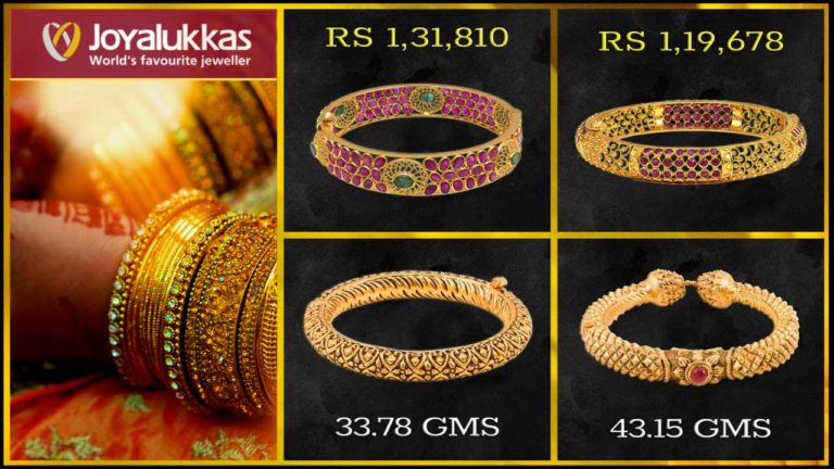 Joyalukkas Gold Bangle Designs with Price