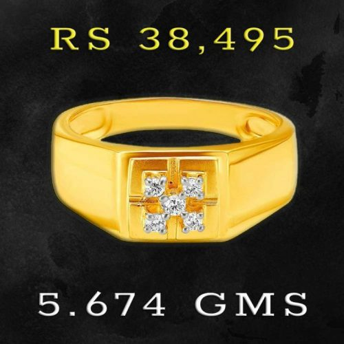 Latest Diamond Ring Design for Men Tanishq