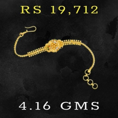 Light Weight Gold Bracelet Design for Girl