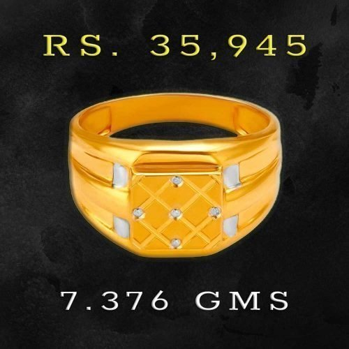 Mens Gold Finger Ring from Tanishq