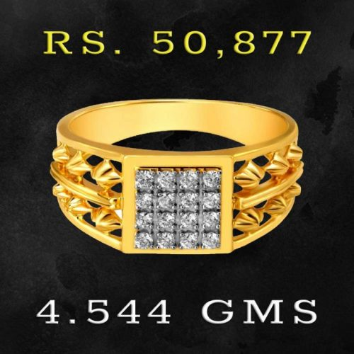Mens Ring with Diamonds 50000 Rs