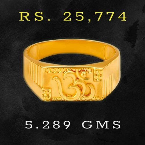 Ohm Gold Finger Rings for Men