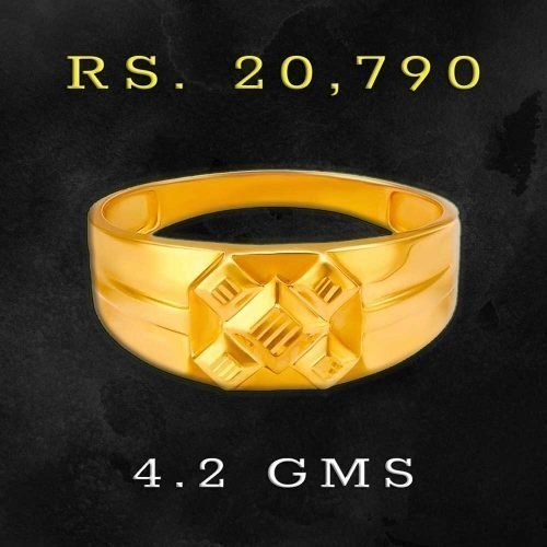 Plain Gold Rings with Price for Men