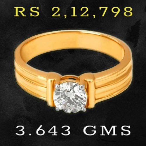 Solitaire Diamond Ring for Men in 0.5 carat
