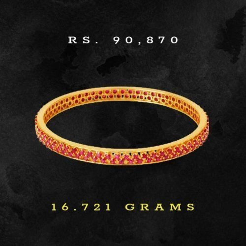 Tanishq-Gold-and-Ruby-Bangle